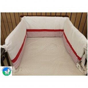 Защитные бортики на кроватк Nani 180 red
