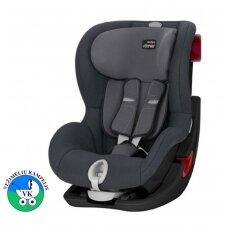 Automobilinė kėdutė BRITAX  KING II BLACK SERIES Storm Grey ZR SB
