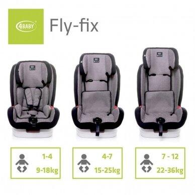 Autokėdutė 4baby FLY-FIX  9-36 Red 6