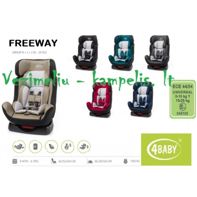 Automobilinė kėdutė 4 baby FREEWAY 2