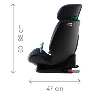 Automobilinė kėdutė BRITAX ADVANSAFIX M i-SIZE Storm Grey 2