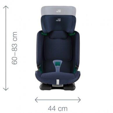 Automobilinė kėdutė BRITAX ADVANSAFIX M i-SIZE Storm Grey 3