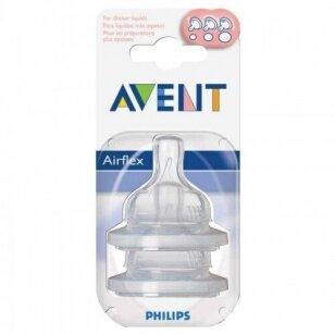 AVENT силиконовые соски 3m+ 2 шт