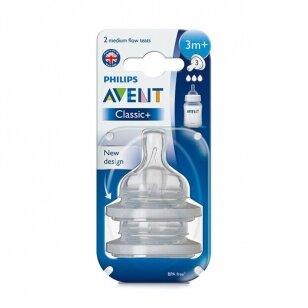 AVENT силиконовые соски Anti-colic 3m+ 2 шт