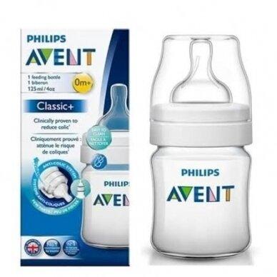 AVENT buteliukas Classic+ 125ml, SCF560/17