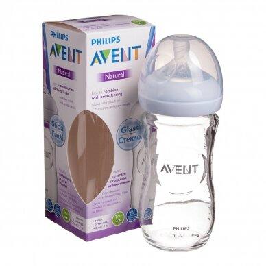 Avent buteliukas stiklinis Natural 240 ml SCF673/17