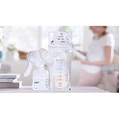 Avent maišelia motinos pieno laikymui 180ml SCF603/25 3