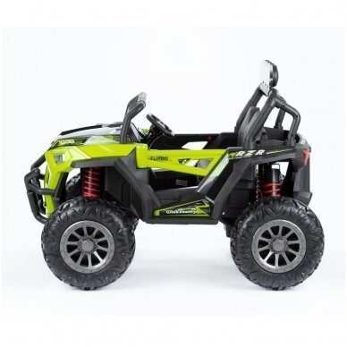 Elektromobilis MONSTER 4WD Green su distanciniu valdymu 4