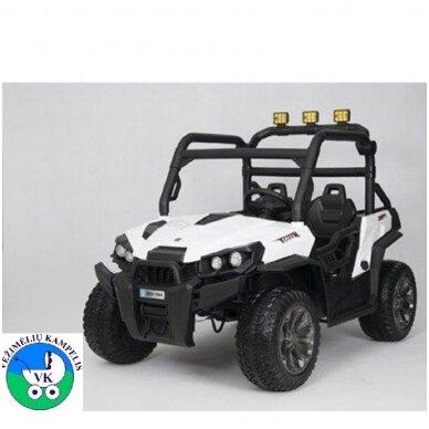 Elektromobilis WXE7988 4WD 12V White su distaciniu valdymu