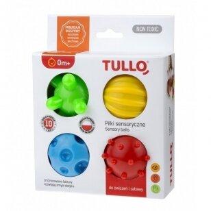 Набор сенсорных мячиков TULLO-459, 4 шт