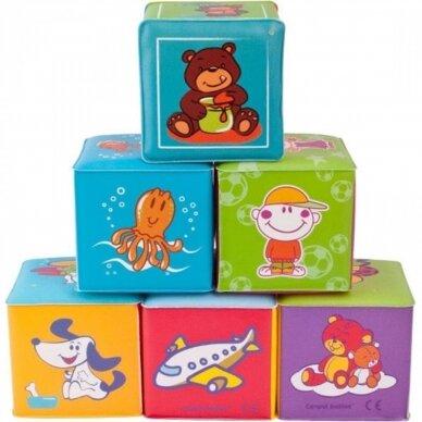 Kaladėlės Canpol  Soft Educational Cubes 2/817, 6 vnt.