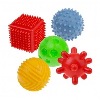 Набор сенсорных мячиков TULLO-458, 5 шт 2