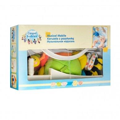 Karuselė muzikinė su minkštais žaisliukais Canpol 2/984 2