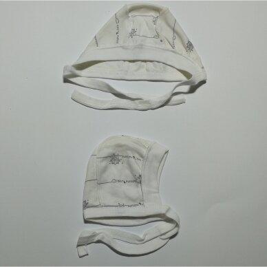 Kepurytė išvirkščiomis siūlėmis 56-68