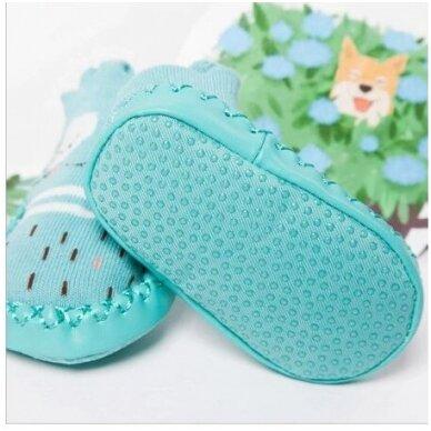 Носочки-ботиночки с резиновой подошвой 12M 2