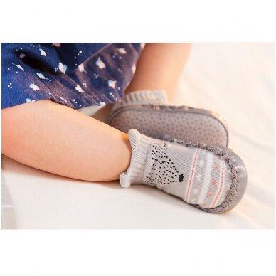 Kojinės-batukai neslystančiu padu 12M 3