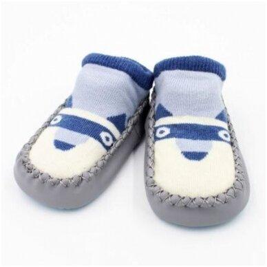 Носочки-ботиночки с резиновой подошвой 12M