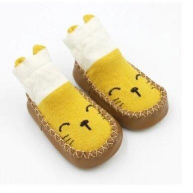 Kojinės-batukai neslystančiu padu-1 2