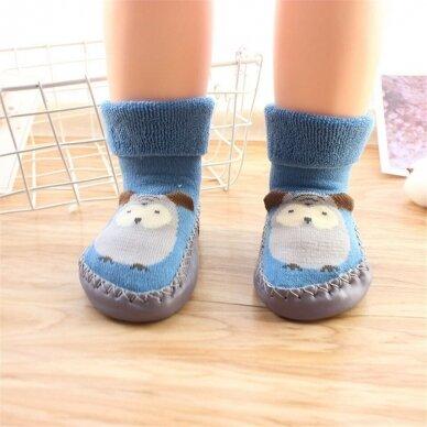 Kojinės-batukai neslystančiu padu-1 3