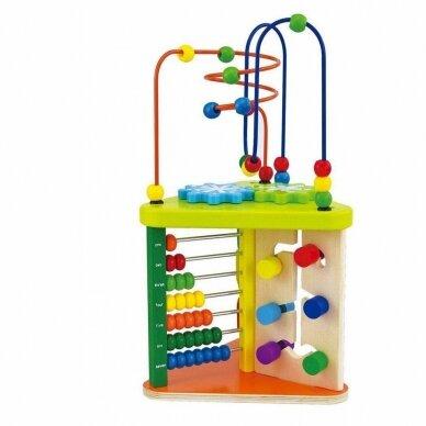 Lavinantis žaislas SmilyPlay Active Triangle Wooden 7622 4