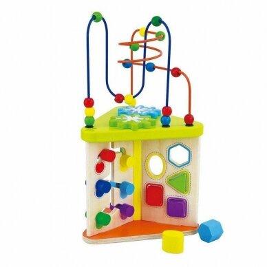Lavinantis žaislas SmilyPlay Active Triangle Wooden 7622 2