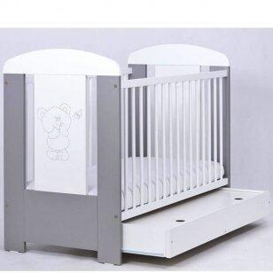 Кроватка Drewex  МИШКА И БАБОЧКА 2 с ящиком