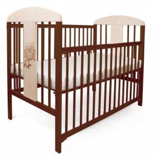 Кроватка TOMI 19 SOWA с опускаемой боковиной