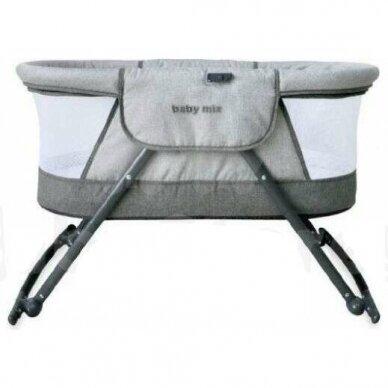 Lopšiukas BabyMix 113B Grey 2