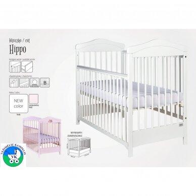 Кроватка Drewex HIPPO с опускаемой боковиной 2