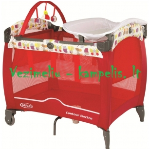 Манеж-кроватка  Graco Countur Elektra Garden Friends