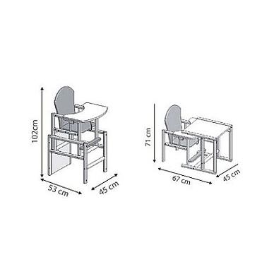 Maitinimo kėdutė Drewex Mis i motylek 3