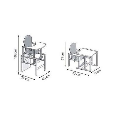 Maitinimo kėdutė Drewex Zyrafka 2