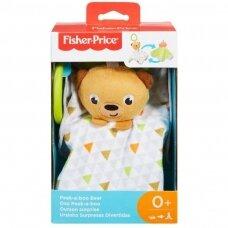 Minkštas pakabinamas žaislas Fisher Price Peek A Boo Bear GFC27