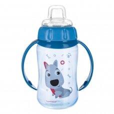 Mokomasis puodelis su silikoniniu snapeliu Canpol CUTE ANIMALS 56/512 Blue