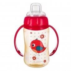 Mokomasis puodelis su silikoniniu snapeliu Canpol CUTE ANIMALS 56/512 Red