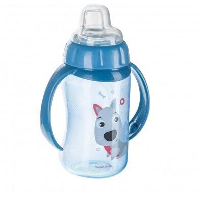 Mokomasis puodelis su silikoniniu snapeliu Canpol CUTE ANIMALS 56/512 Blue 3