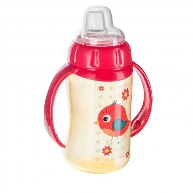 Mokomasis puodelis su silikoniniu snapeliu Canpol CUTE ANIMALS 56/512 Red 2