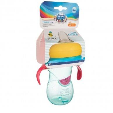 Mokomasis puodelis su silikoniniu snapeliu Canpol SO COOL 57/304 Pink 3