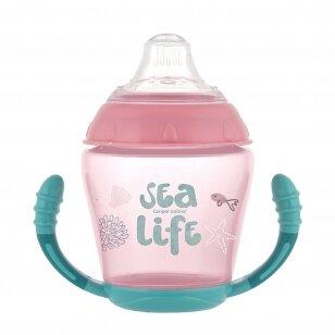 Чашка-непроливайка  с силиконовым носиком Canpol SEA LIFE 56/501 Pink