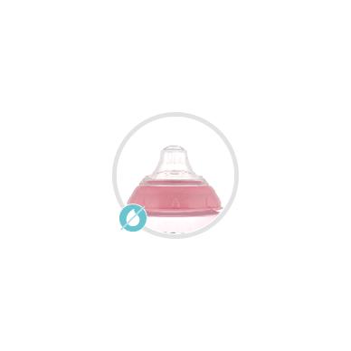 Puodelis neišsiliejantis susilikoniniu snapeliu Canpol SEA LIFE 56/501 Pink 2