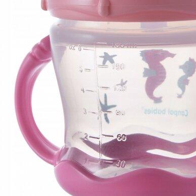 Чашка-непроливайка  с силиконовым носиком Canpol SWEET FUN 57/300 Pink