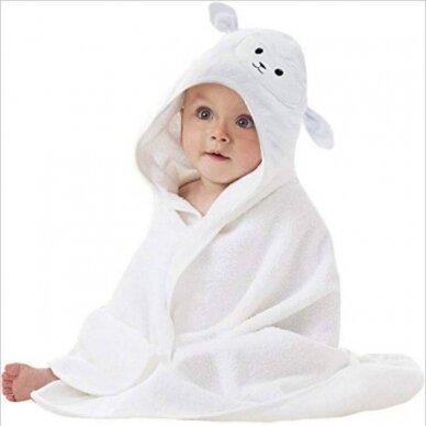 Rankšluostis kūdikiui 3D su gobtuvu ANIMAL-Panda 3