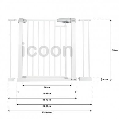 Ворота безопасности ICOON 76-104 cm 5