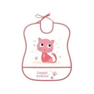 Слюнявчик моющийся с карманом Canpol 2/919 Coral