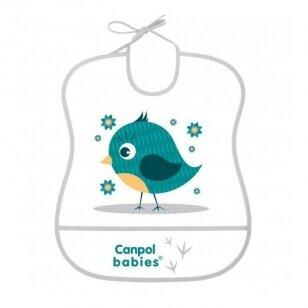 Слюнявчик моющийся с карманом Canpol 2/919 Grey