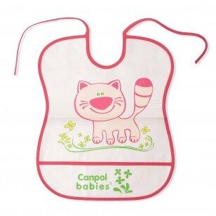 Слюнявчик моющийся с карманом Canpol 2/919 Pink