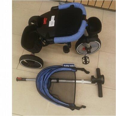 Трехколесный велосипед BabyMix TAXI 360º Blue 6