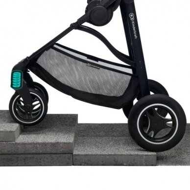 Vežimėlis Kinderkraft ALL ROAD, ash grey 7