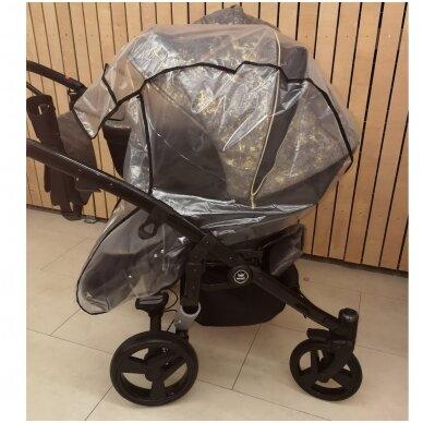 Vežimėlių 2in1 apsauga nuo lietaus 2