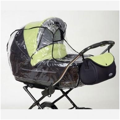 Vežimėlių apsauga nuo lietaus lopšiui